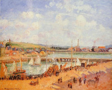 "Репродукция картины ""the port of dieppe, the dunquesne and berrigny basins high tide, sunny afternoon"" художника ""писсарро камиль"""