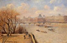 "Репродукция картины ""the raised terrace of the pont neuf"" художника ""писсарро камиль"""