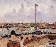 "Копия картины ""The Inner Harbor, Havre"" художника ""Писсарро Камиль"""
