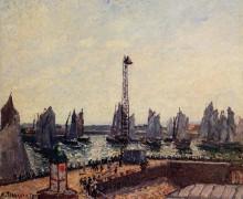 "Репродукция картины ""The Inner Port and Pilots Jetty, Havre"" художника ""Писсарро Камиль"""