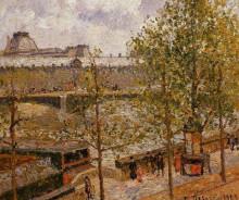 """Картина """"The Louvre, Morning, Sun, Quai Malaquais"""" художника """"Писсарро Камиль"""""""