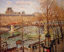 "Копия картины ""The Pont du Carrousel, Afternoon"" художника ""Писсарро Камиль"""