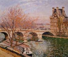 """Репродукция картины """"the pont royal and the pavillion de flore"""" художника """"писсарро камиль"""""""