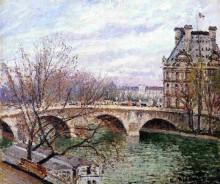 """Репродукция картины """"the pont royal and the pavillon de flore"""" художника """"писсарро камиль"""""""
