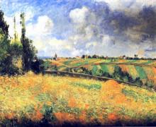 """Картина """"fields"""" художника """"писсарро камиль"""""""