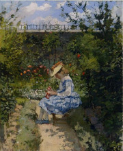 "Картина ""Jeanne in the Garden, Pontoise"" художника ""Писсарро Камиль"""