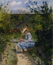 """Картина """"jeanne in the garden, pontoise"""" художника """"писсарро камиль"""""""