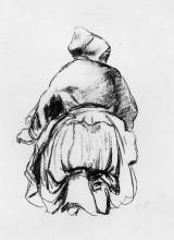 """Картина """"kneeling woman"""" художника """"писсарро камиль"""""""