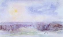 """Репродукция картины """"Landscape at Eragny"""" художника """"Писсарро Камиль"""""""