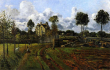 """Картина """"landscape, louveciennes"""" художника """"писсарро камиль"""""""