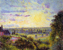 "Картина ""sunset at eragny"" художника ""писсарро камиль"""