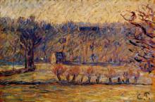 """Картина """"The Hill at Vaches, Bazincourt"""" художника """"Писсарро Камиль"""""""