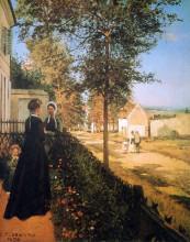 "Копия картины ""the road of versailles"" художника ""писсарро камиль"""
