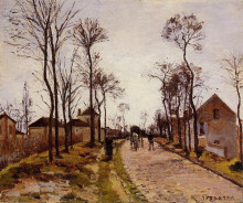 """Копия картины """"The Road to Saint Cyr at Louveciennes"""" художника """"Писсарро Камиль"""""""