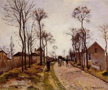 """Картина """"the road to saint cyr at louveciennes"""" художника """"писсарро камиль"""""""