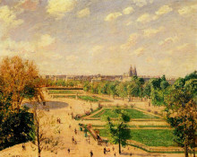 "Картина ""the tuilleries gardens morning, spring, sun"" художника ""писсарро камиль"""