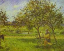 """Копия картины """"The Wheelbarrow, Orchard"""" художника """"Писсарро Камиль"""""""