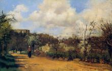 """Картина """"view from louveciennes"""" художника """"писсарро камиль"""""""