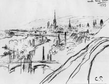 """Картина """"View of Rouen"""" художника """"Писсарро Камиль"""""""