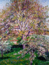 "Картина ""Wallnut and Apple Trees in Bloom at Eragny"" художника ""Писсарро Камиль"""