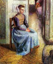 """Картина """"Young Flemish maid"""" художника """"Писсарро Камиль"""""""