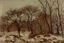 """Картина """"chestnut orchard in winter"""" художника """"писсарро камиль"""""""