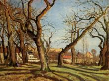 "Копия картины ""chestnut trees at louveciennes"" художника ""писсарро камиль"""