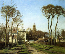 "Копия картины ""entrance to the village of voisins, yvelines"" художника ""писсарро камиль"""