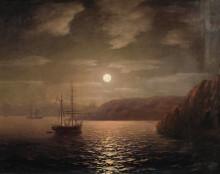 """Картина """"лунная ночь на чёрном море"""" художника """"айвазовский иван"""""""