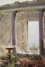 """Копия картины """"развалины дворца в палестине"""" художника """"поленов василий"""""""