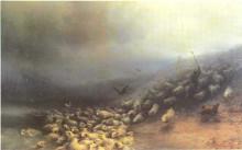 """Картина """"стадо овец в бурю"""" художника """"айвазовский иван"""""""