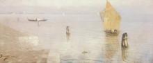 """Репродукция картины """"лагуна. венеция."""" художника """"поленов василий"""""""