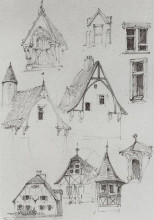 """Копия картины """"архитектурные зарисовки. из путешествия по германии"""" художника """"поленов василий"""""""
