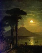 """Картина """"неаполитанский залив в лунную ночь. везувий"""" художника """"айвазовский иван"""""""