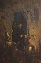 """Копия картины """"арест гугенотки жакобин де монтебель, графини д'этремон"""" художника """"поленов василий"""""""