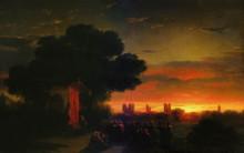"""Картина """"вид крыма при закате солнца"""" художника """"айвазовский иван"""""""