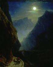"""Картина """"дарьяльское ущелье в лунную ночь"""" художника """"айвазовский иван"""""""