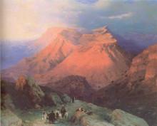 """Копия картины """"горный кишлак гуниб в дагестане. вид с восточной стороны"""" художника """"айвазовский иван"""""""
