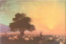 """Картина """"стадо овец с пастухами"""" художника """"айвазовский иван"""""""