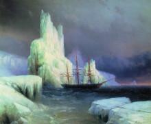 """Копия картины """"ледяные горы в антарктике"""" художника """"айвазовский иван"""""""