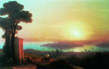 "Картина ""Вид Константинополя с Чамлича"" художника ""Айвазовский Иван"""