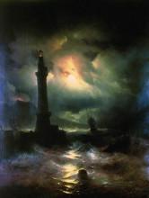 """Копия картины """"неаполитанский маяк"""" художника """"айвазовский иван"""""""