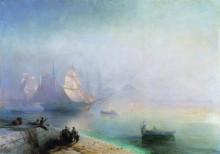 """Копия картины """"неаполитанский залив в туманное утро"""" художника """"айвазовский иван"""""""