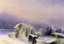 """Копия картины """"ледорубы на замерзшей неве в санкт-петербурге"""" художника """"айвазовский иван"""""""