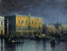 """Картина """"дворец дожей в венеции при луне"""" художника """"айвазовский иван"""""""