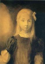 "Копия картины ""portrait of mademoiselle jeanne roberte de domecy"" художника ""редон одилон"""