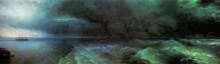 """Копия картины """"от штиля к урагану"""" художника """"айвазовский иван"""""""