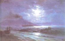 """Картина """"неаполитанский залив с лунным светом"""" художника """"айвазовский иван"""""""