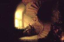 """Картина """"philosopher in meditation"""" художника """"рембрандт"""""""