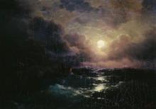 """Репродукция картины """"после бури. восход луны"""" художника """"айвазовский иван"""""""